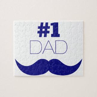 Quebra-cabeça Bigode azul do pai #1 - número um