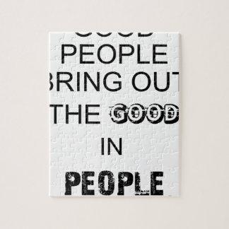Quebra-cabeça boas pessoas do bringout o bom nos povos