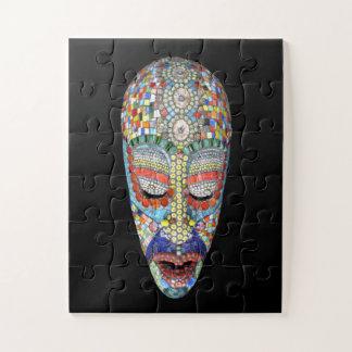 Quebra-cabeça Bob, por que a cara longa? Máscara do mosaico