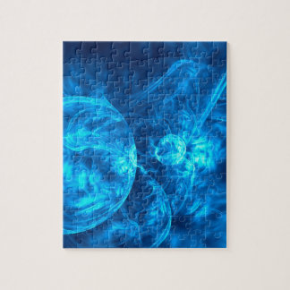 Quebra-cabeça bolhas azuis