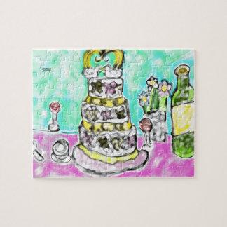 Quebra-cabeça bolo de casamento