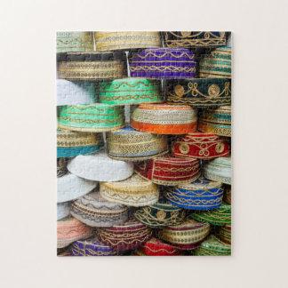 Quebra-cabeça Bonés árabes no mercado