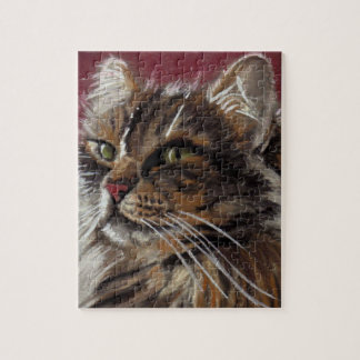 Quebra-cabeça bonito do gato de racum de Maine do