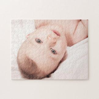 Quebra-cabeça bonito personalizado da foto do bebê
