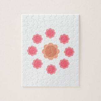 Quebra-cabeça Branco do rosa da mandala do design