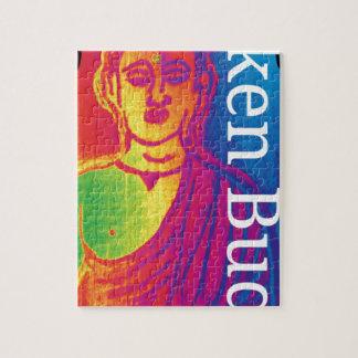 Quebra-cabeça Buddha quebrado de néon