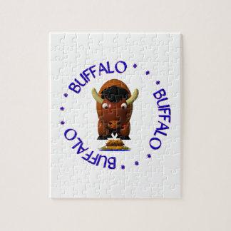 Quebra-cabeça Búfalo com carne em Weck e em asas de frango frita
