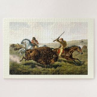 Quebra-cabeça Búfalo da caça