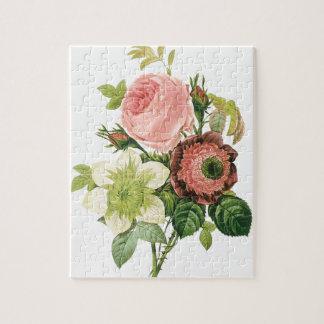 Quebra-cabeça Buquê cor-de-rosa do vintage