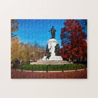 Quebra-cabeça C.C. de Washington do parque de Lafayette