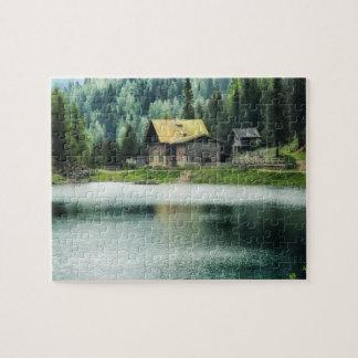 Quebra-cabeça Cabine pelo lago 8x10
