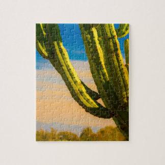 Quebra-cabeça Cacto do Saguaro do deserto no céu azul