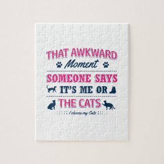 Quebra-cabeça Camiseta do amante do gato