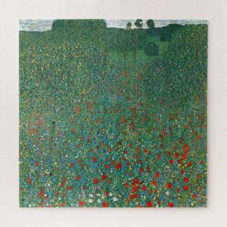 Quebra-cabeça Campo da papoila por Gustavo Klimt, arte Nouveau