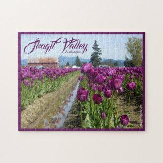 Quebra-cabeça Campos da tulipa (roxos) & celeiro (vale de