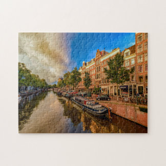 Quebra-cabeça Canais de Amsterdão