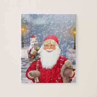 Quebra-cabeça Cão Eskimo americano dos presentes do Natal de