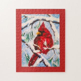 Quebra-cabeça cardinal do inverno