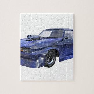 Quebra-cabeça Carro de competência azul da estrela