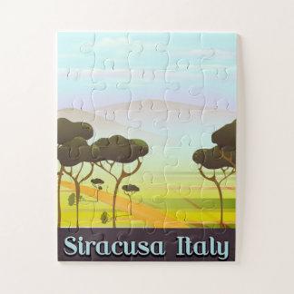 Quebra-cabeça Cartaz do viagem da paisagem de Siracusa Italia