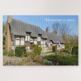 Quebra-cabeça Casa de campo do telhado thatched das mães de