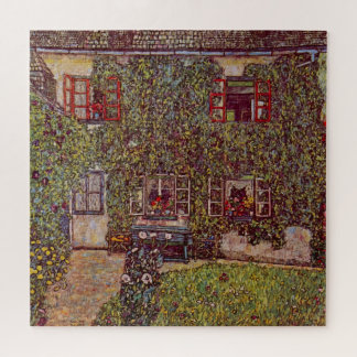 Quebra-cabeça Casa de Guardaboschi por Klimt, belas artes do