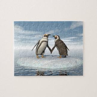 Quebra-cabeça Casal dos pinguins