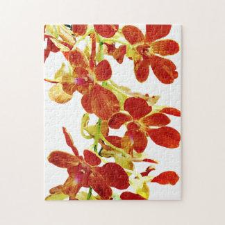 Quebra-cabeça Cascata de orquídeas alaranjadas