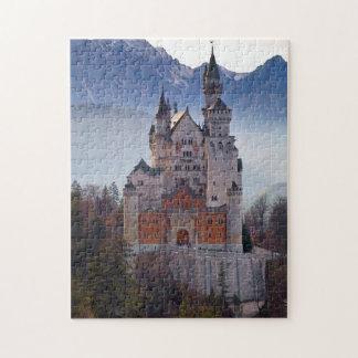 Quebra-cabeça Castelo bávaro Neuschwanstein no inverno