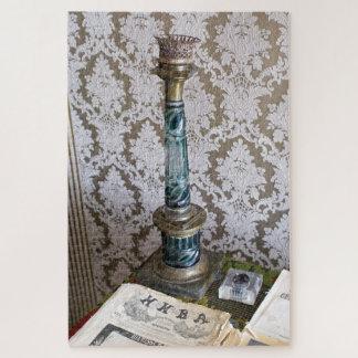 Quebra-cabeça Castiçal do vidro do vintage