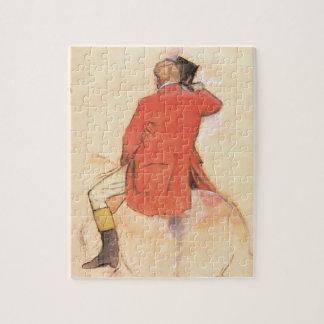 Quebra-cabeça Cavaleiro em um casaco vermelho por Edgar Degas