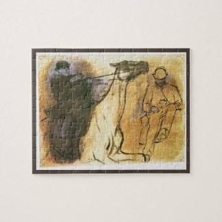 Quebra-cabeça Cavalo e cavaleiro por Edgar Degas, arte do estudo