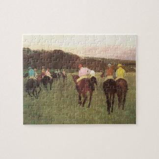Quebra-cabeça Cavalos de corrida em Longchamp por Edgar Degas