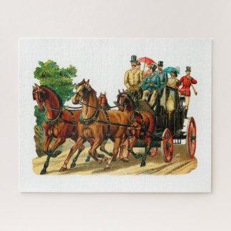Quebra-cabeça Cavalos e carruagem