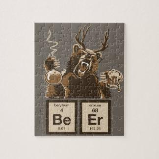 Quebra-cabeça Cerveja descoberta urso da química