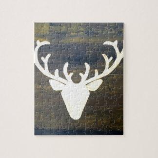 Quebra-cabeça Cervos do estilo do chalé de Alpen