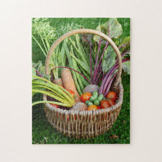 Quebra-cabeça Cesta de vegetais colhidos