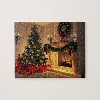Quebra-cabeça Chaminé 8x10 do Natal