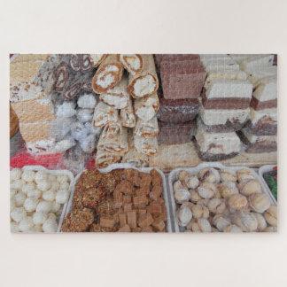 Quebra-cabeça Chocolate, nougat, biscoitos, doces