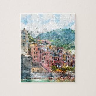 Quebra-cabeça Cinque Terre Italia no Riviera italiano