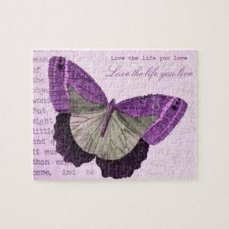 Quebra-cabeça Citações inspiradas da borboleta feminino