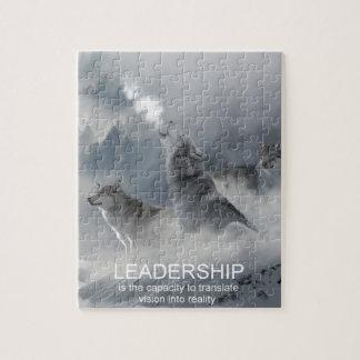 Quebra-cabeça citações inspiradas inspiradores da liderança