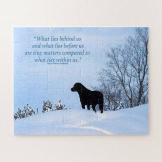 Quebra-cabeça Citações pretas de Labrador - o que se encontra