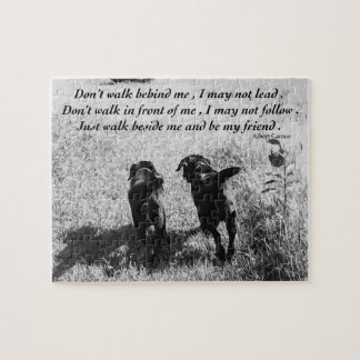Quebra-cabeça Citações pretas dos amigos de Labrador