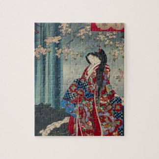 Quebra-cabeça Clássico legal da arte japonesa da senhora Japão