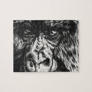 Quebra-cabeça coberto do gorila
