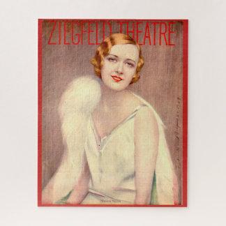 Quebra-cabeça Cobrir 1928 do programa do teatro de Ziegfeld
