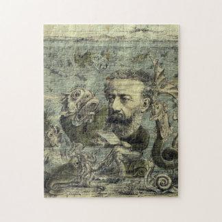 Quebra-cabeça Cobrir periódico de Jules Verne do vintage