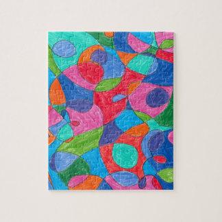 Quebra-cabeça colorido da arte da bolha