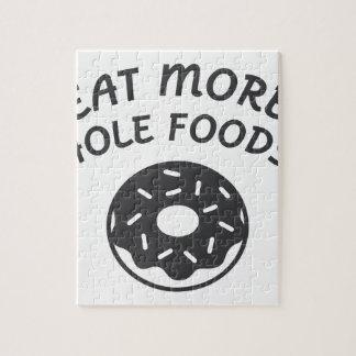 Quebra-cabeça Coma mais alimentos do furo